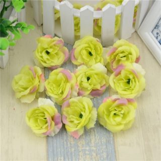 10pcslot mini artificial flowers silk roses heads for wedding choose junglespirit Image collections