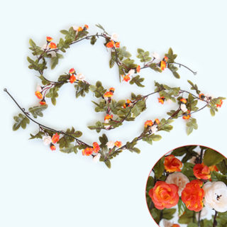 230cm roses artificial flowers with green leaves hanging garland 230cm roses artificial flowers with green leaves hanging garland silk flowers for wedding home decoration wholesale dropshipping mightylinksfo