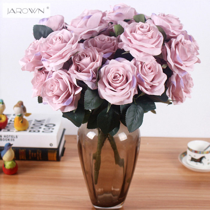 Artificial silk 1 Bunch French Rose Floral Bouquet Fake Flower ...