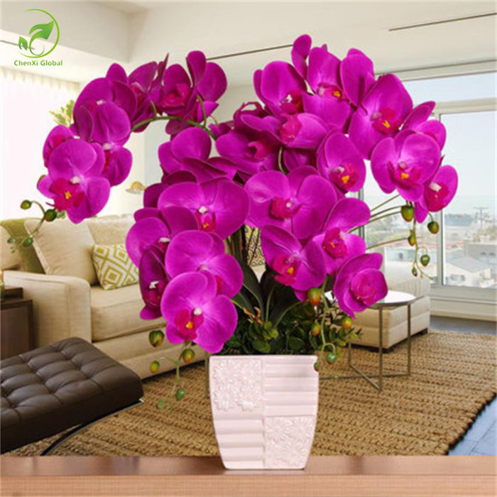 Orchid artificial flowers diy butterfly orchid silk flower bouquet variations mightylinksfo
