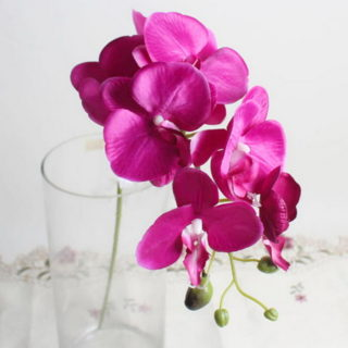 Orchid Artificial Flowers Diy Butterfly Orchid Silk Bouquet